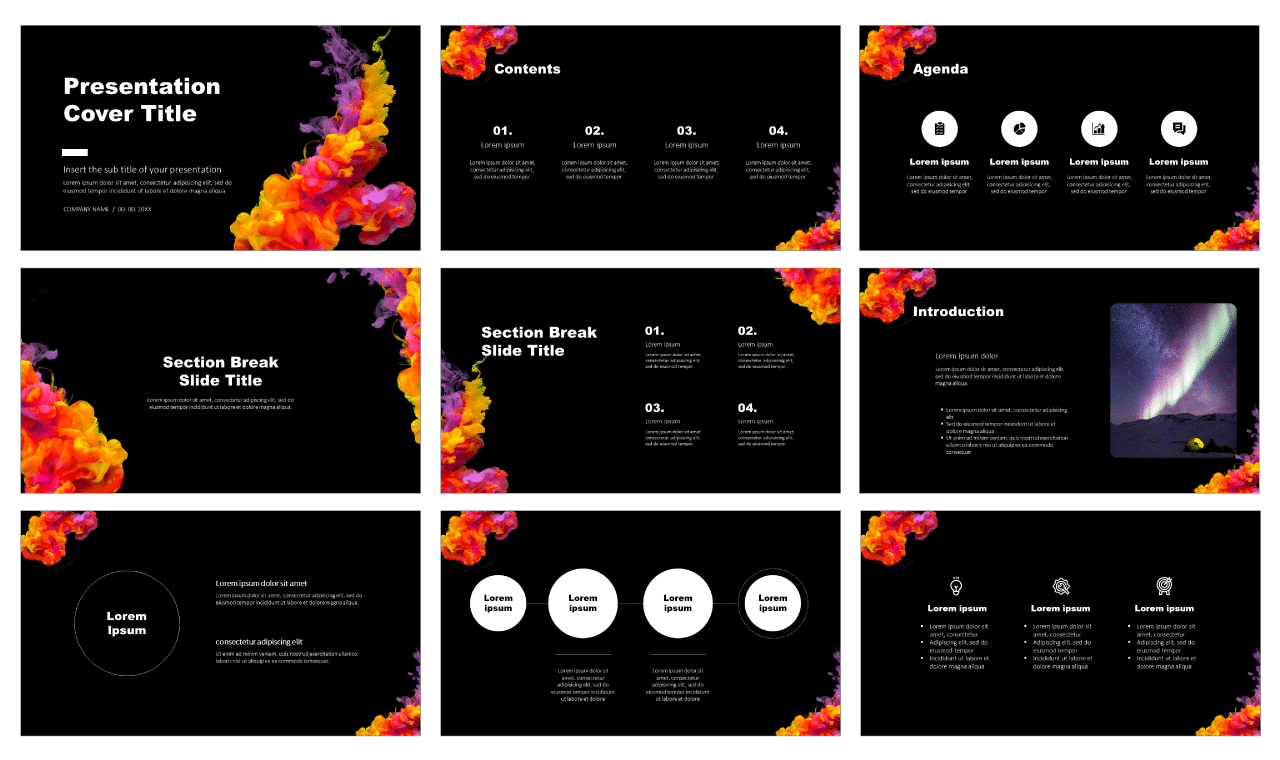 Acrylic Color Ink Free Google Slides PowerPoint Design Templates