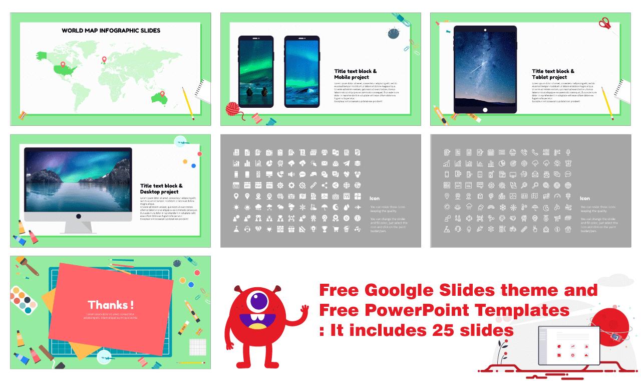 Art Education Studio Google Slides PowerPoint Templates Presentation Background Design