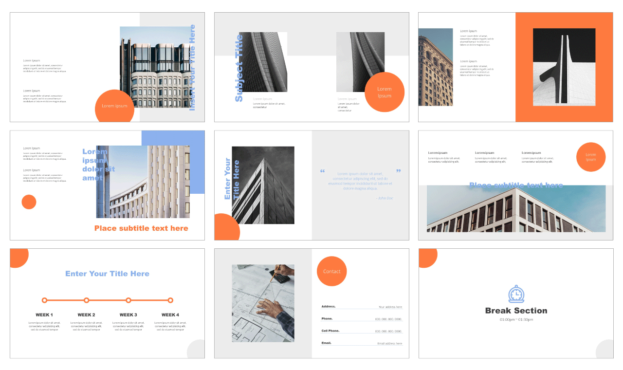Awesome Simple Portfolio Google Slides PowerPoint Templates Free download