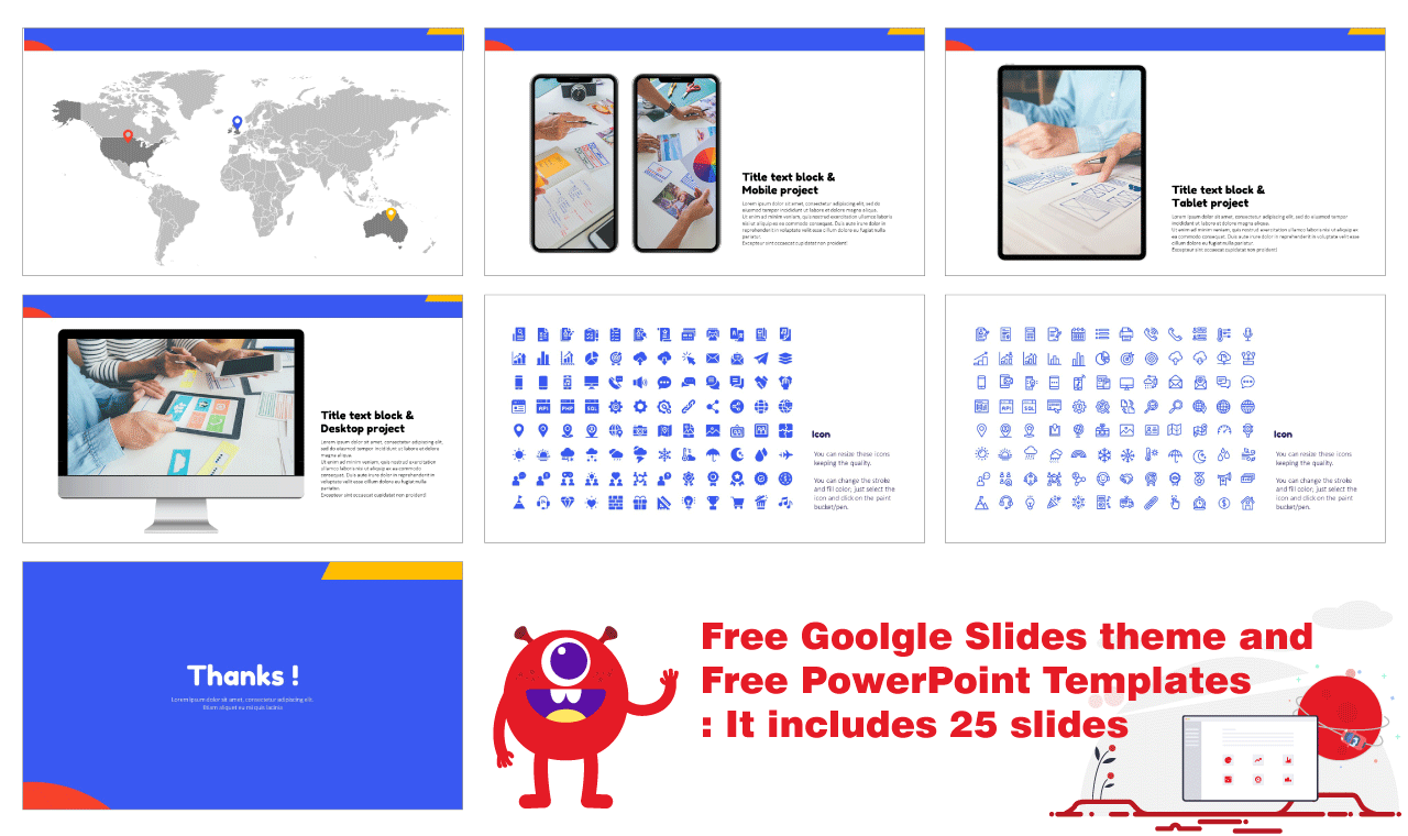 Colorful Flat Shapes Presentation Backgoround Design Google Slides PowerPoint Templates Free download