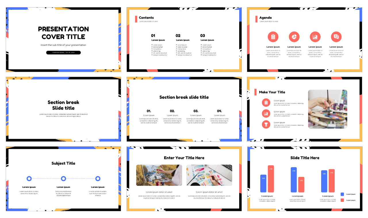 Colourful Pop Art Free Google Slides Design Themes