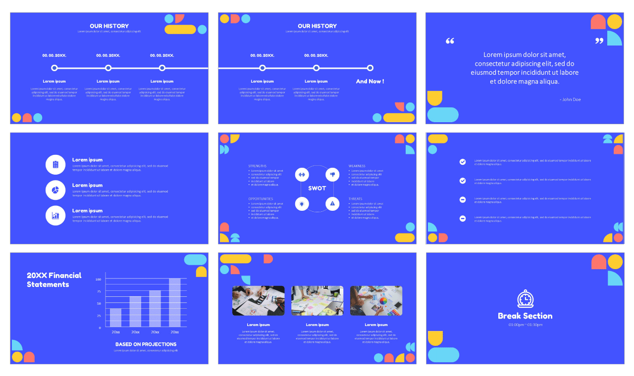 Creative multipurpose Google Slides PowerPoint Templates Design Free download
