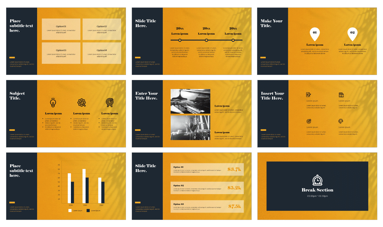 Emotional Minimalism PowerPoint Google Slides Design Templates Free download