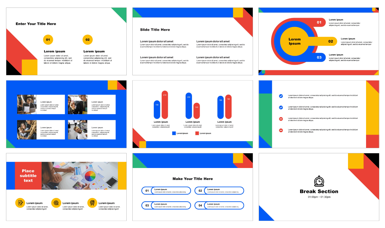 Eye-Catching Color Free PowerPoint Templates