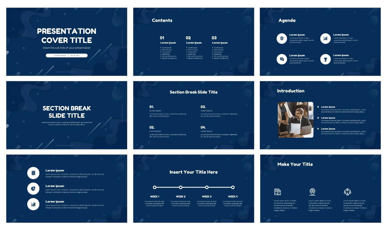 Fluid Memphis Design Free PowerPoint Templates Google Slides Themes