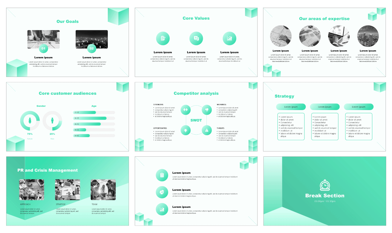 Geometric inspired design PowerPoint Templates Google Slides Free download