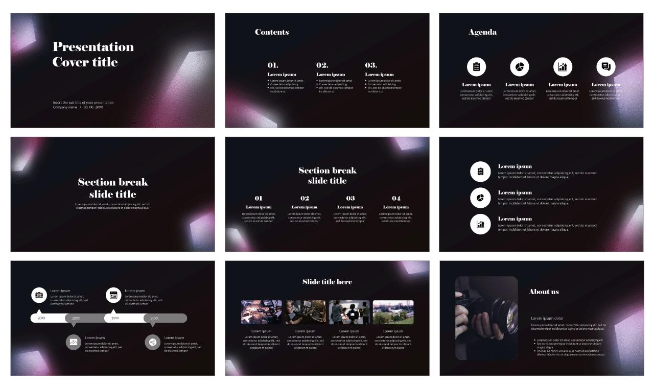 Inspirational Graphic Design Free Google Slides theme PowerPoint templates