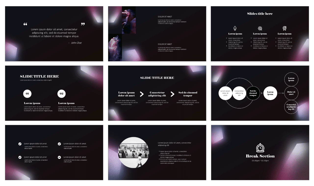 Inspirational Graphic Design Google Slides PowerPoint Templates Free download
