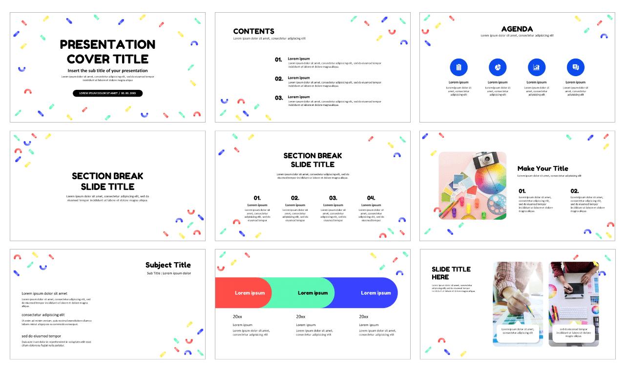 Memphis Pattern Design Free Google Slides Templates Design Theme