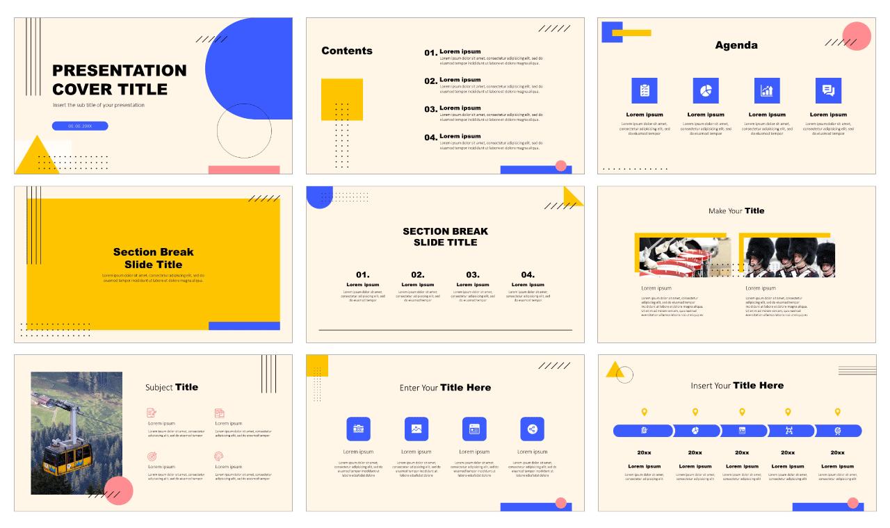 Minimal Memphis Design Free Google Slides PowerPoint Templates
