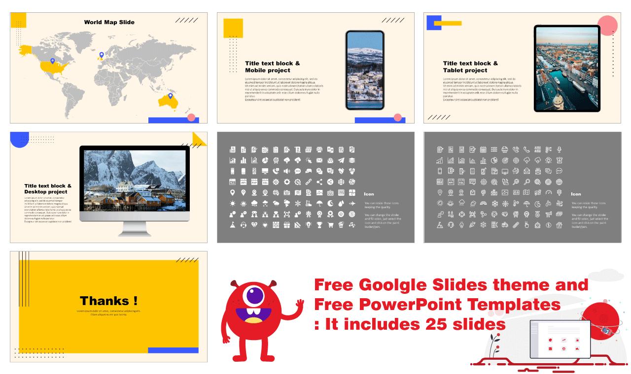 Minimal Memphis Design Presentation Background Design Google Slides PowerPoint Templates Free download