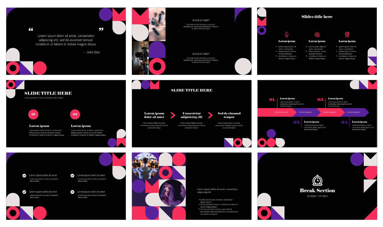 Modern color palette Free PowerPoint Google Slides Design Theme Templates