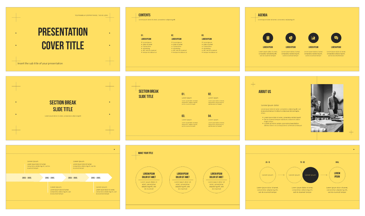 Modern simple design Free Google Slides Theme PowerPoint Template