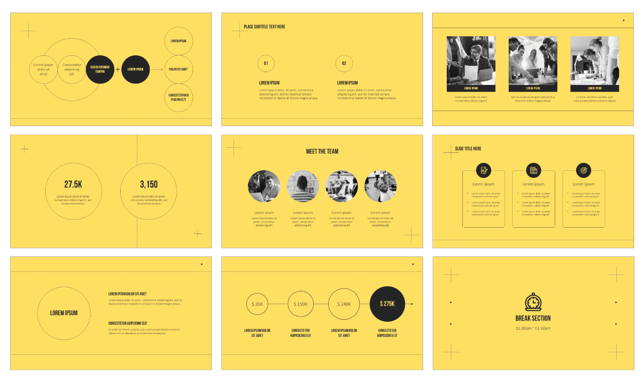 Modern simple design Google Slides PowerPoint Templates Free download