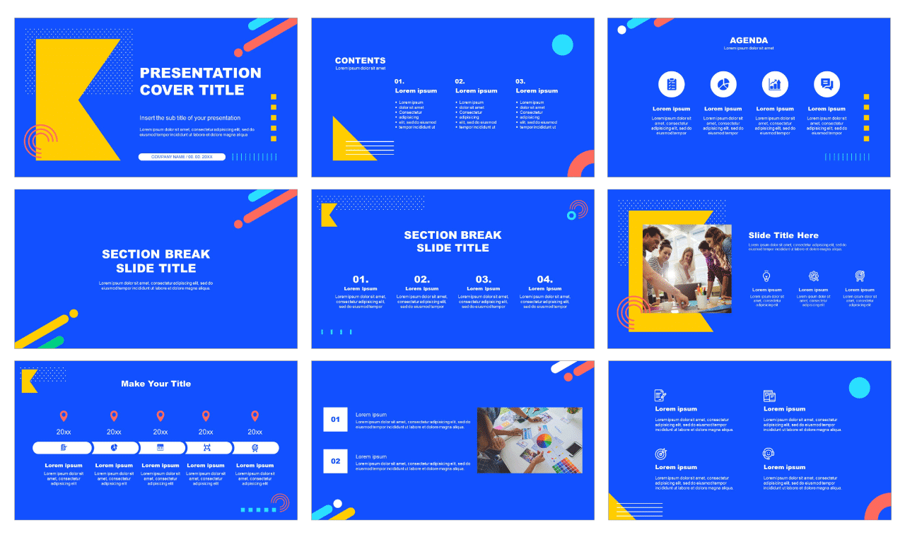 New Memphis Style Free PowerPoint Templates Google Slides themes