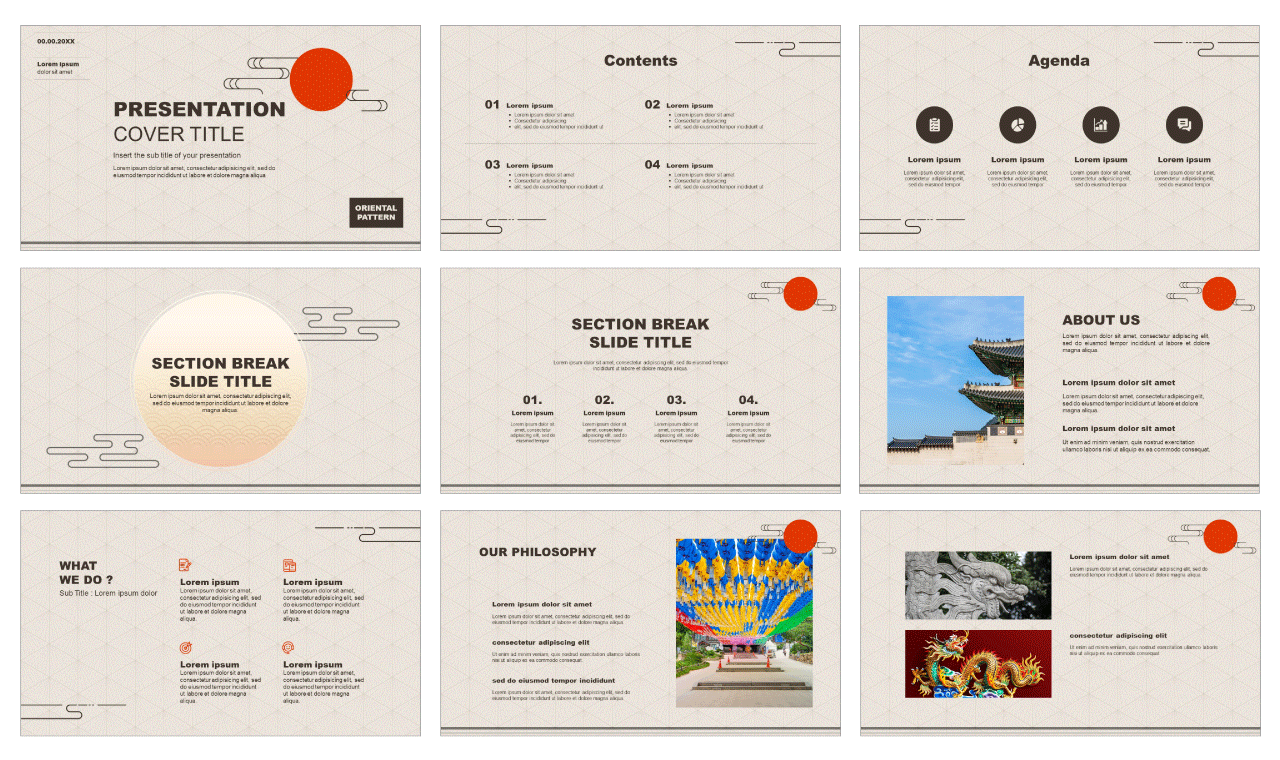 Oriental pattern design Free PowerPoint Templates Google Slides Theme