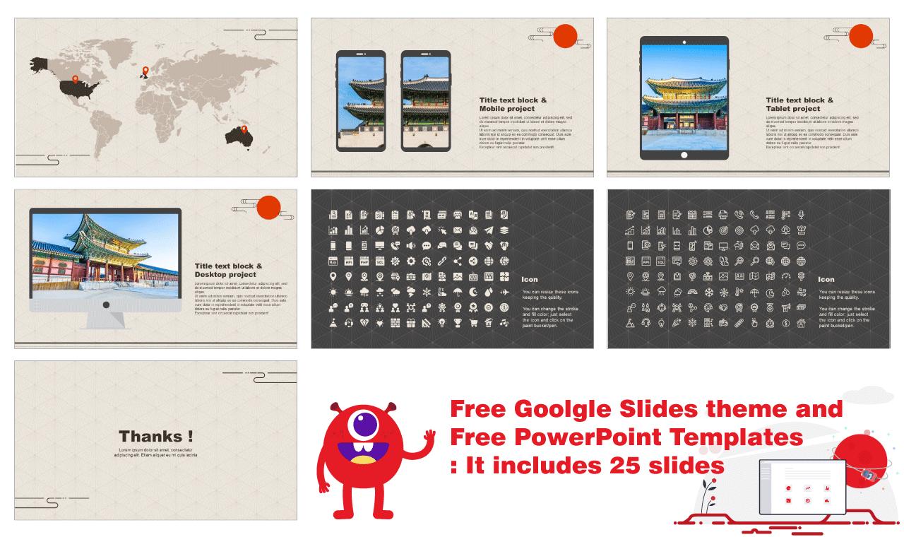 Oriental pattern design Presentation Design PowerPoint Google Slides templates Free download