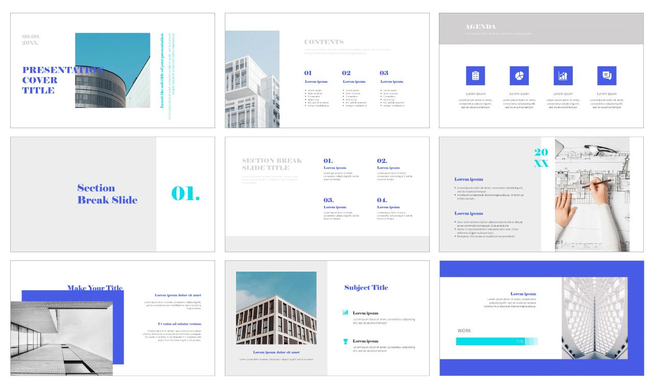 Simple Design Portfolio Free Google Slides Theme PowerPoint Template