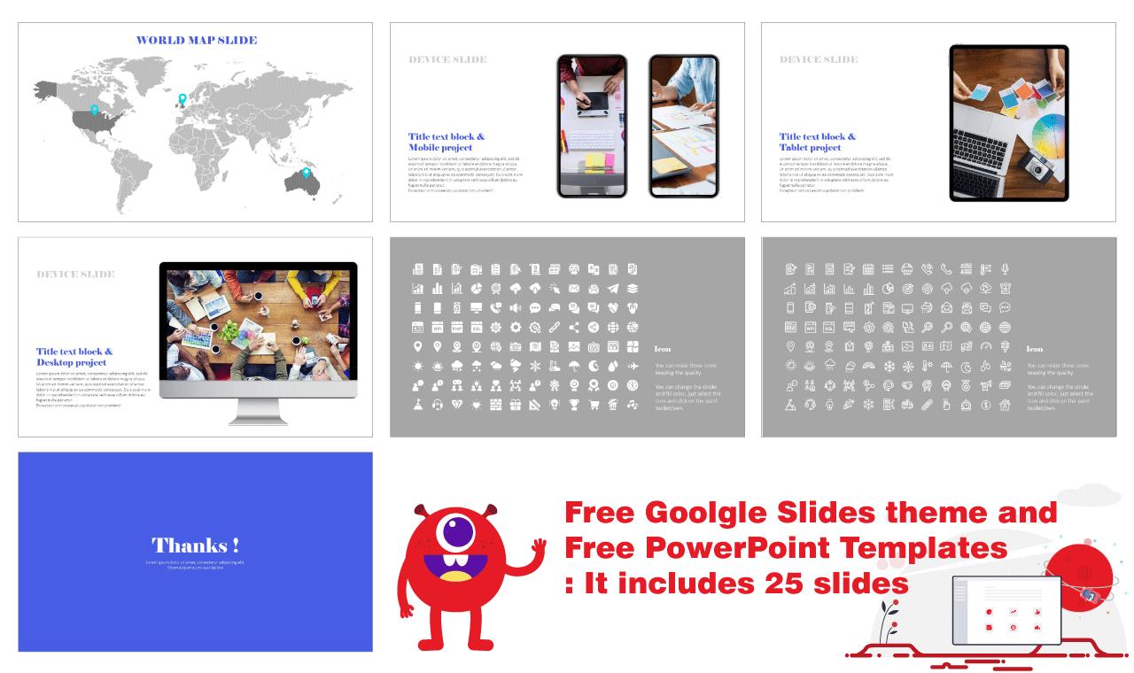 Simple Design Portfolio Presentation Background Google Slides PowerPoint templates