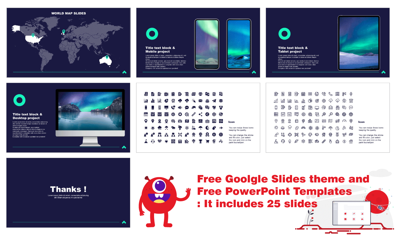 Simplicity Professional Business Presentation for Google Slides PowerPoint Templates Free download