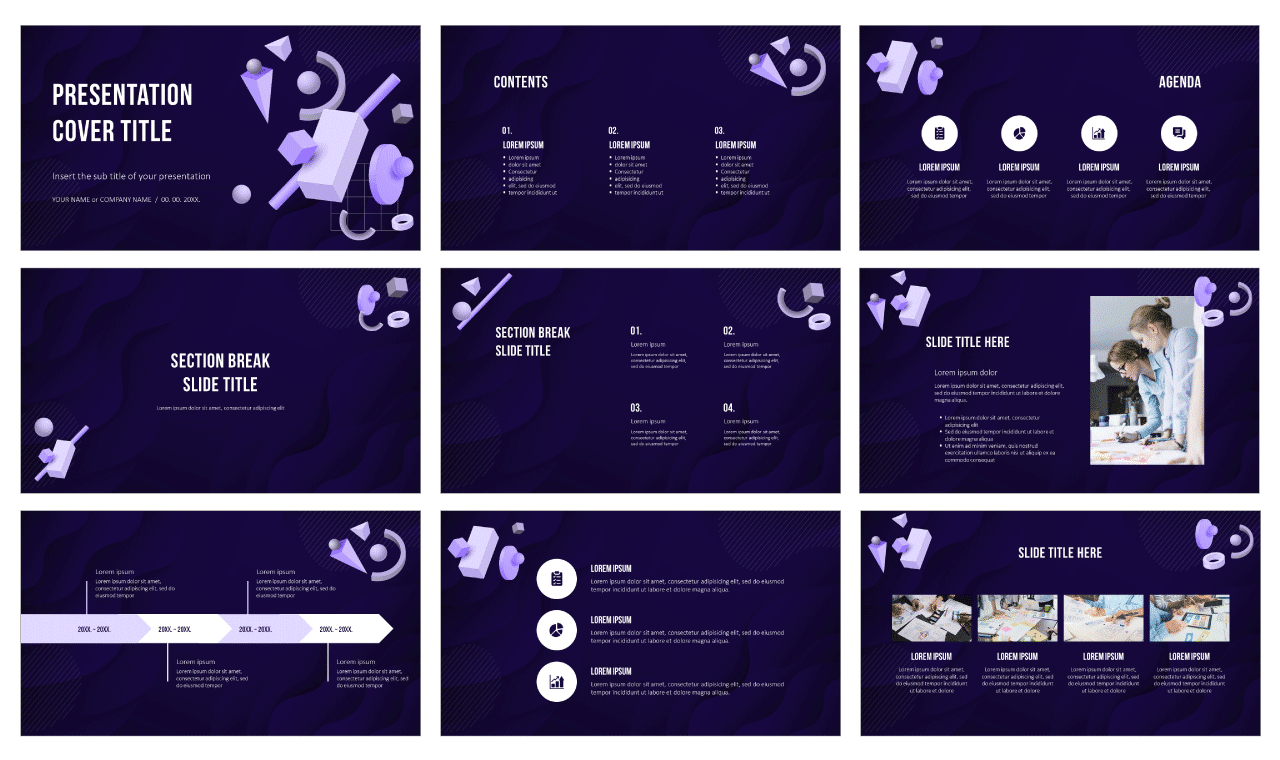 Abstract Geometric Shapes Free Google Slides Themes PowerPoint Templates