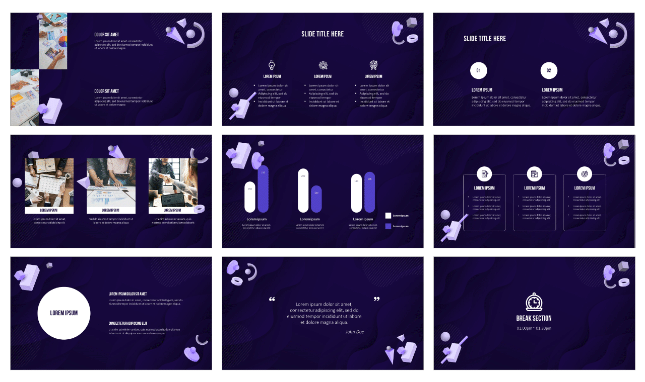 Abstract Geometric Shapes design Google Slides Theme PowerPoint Templates Free download