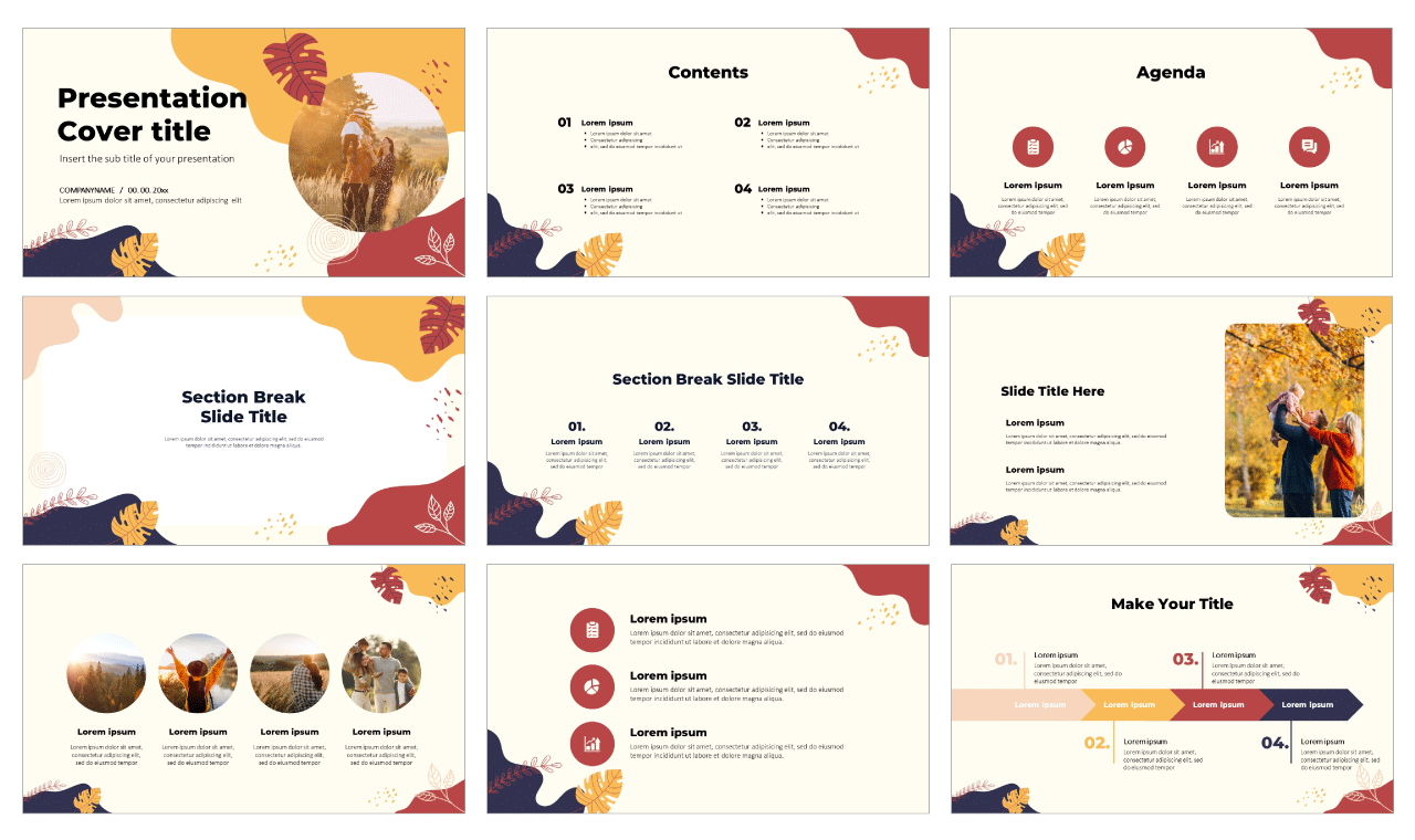 Abstract Memphis Design Free Google Slides Theme PowerPoint Template