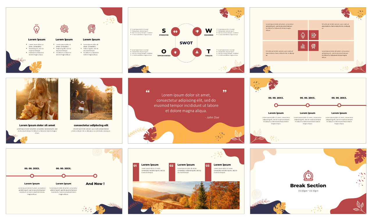 Abstract Memphis Design Google slides theme PowerPoint template Free download