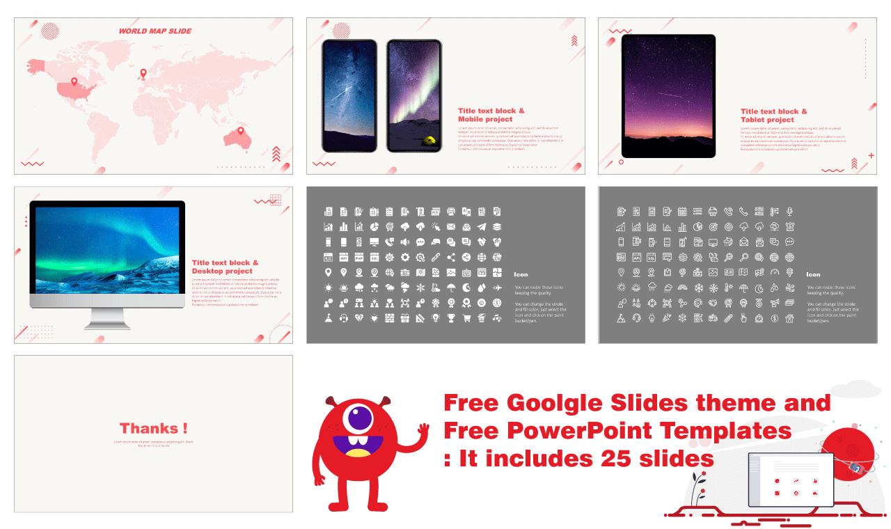 Bright Redtone Geometric Presentation Backgorund Design Google Slides Theme PowerPoint Templates Free download