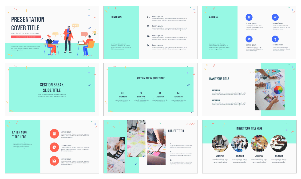 Coworking Space Free Google Slides Theme PowerPoint Template