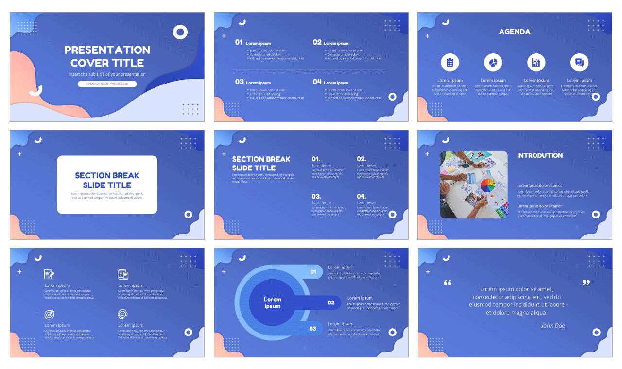 Creative Impact Wave Free Google Slides Theme PowerPoint Templates