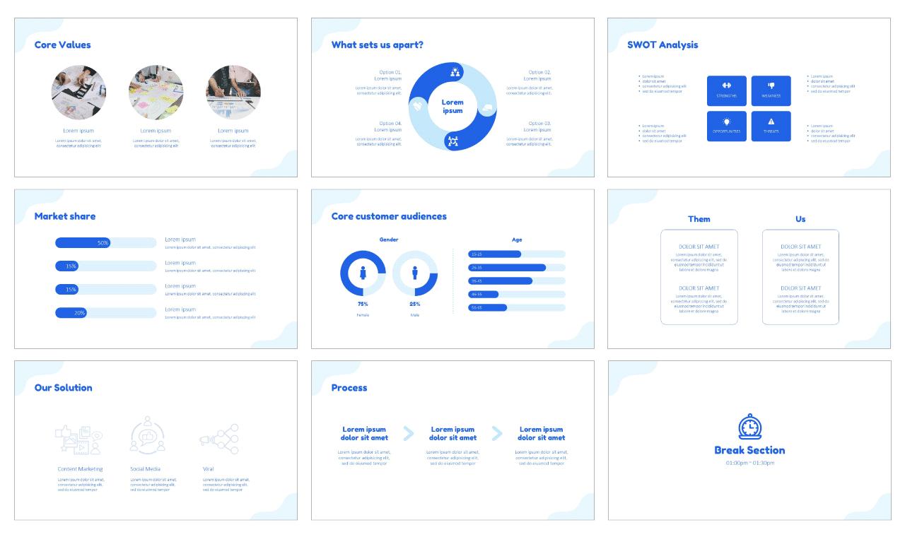 Digital Marketing Proposals Google Slides PowerPoint Design Templates Free download