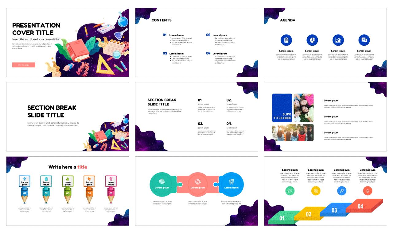 Educational design Free Google Slides Theme PowerPoint Template