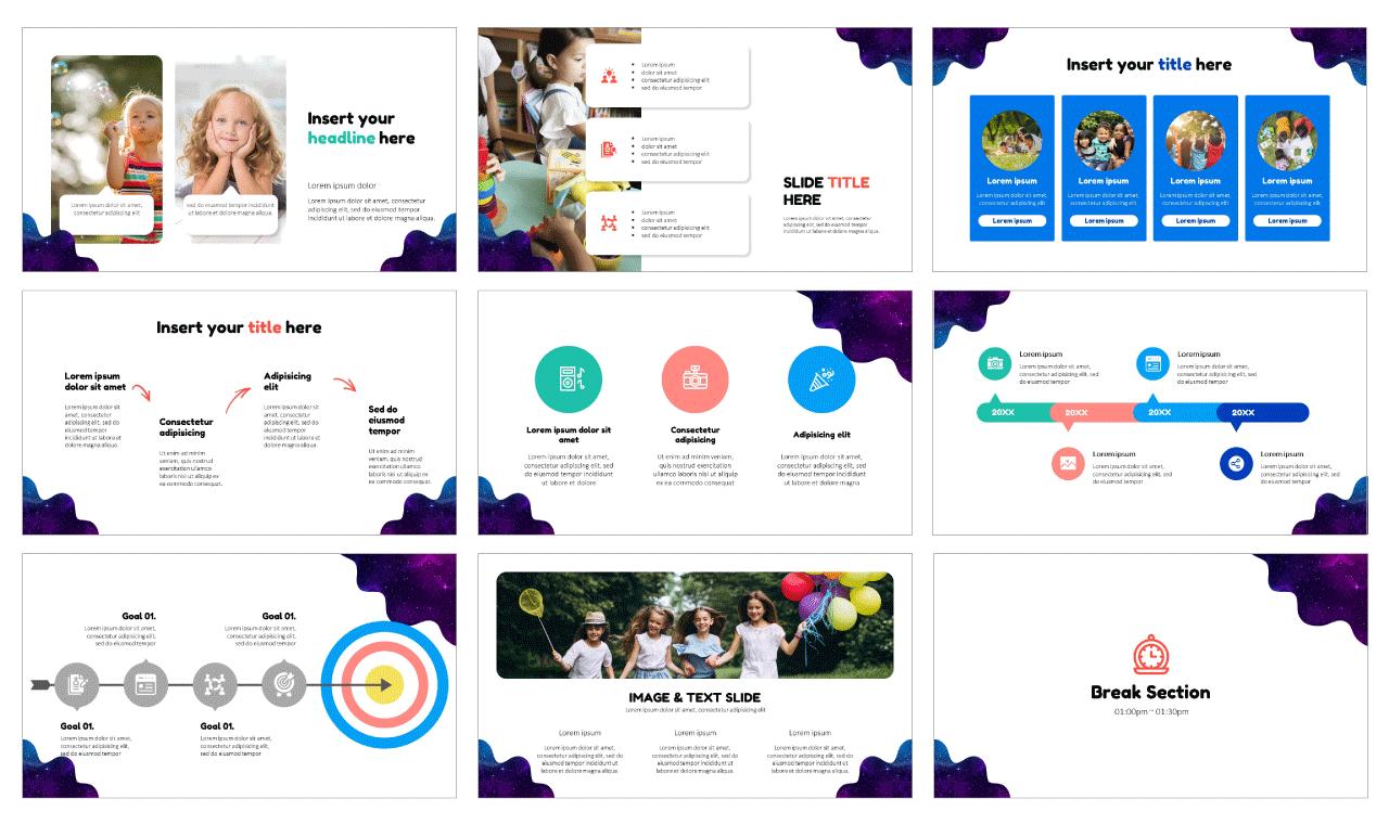 Educational design Google Slides theme PowerPoint Templates Free download