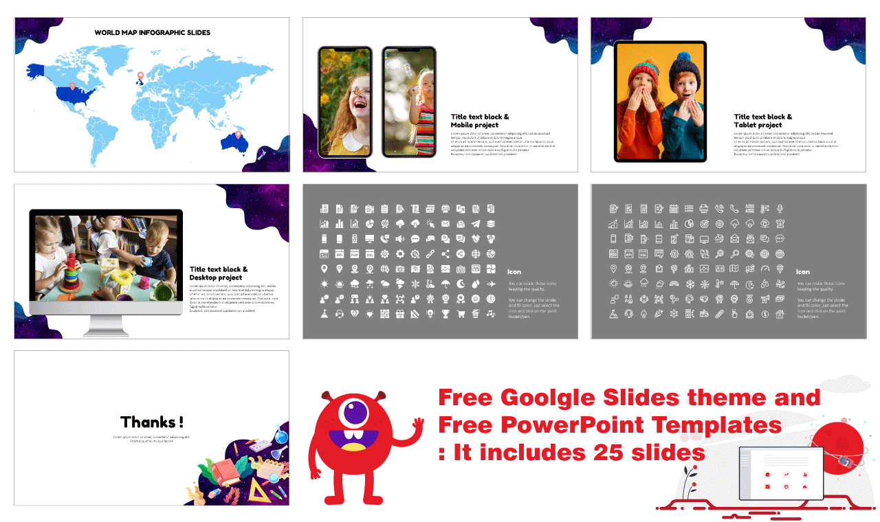 Educational design Presentation Background Design Google Slides PowerPoint Templates Free download
