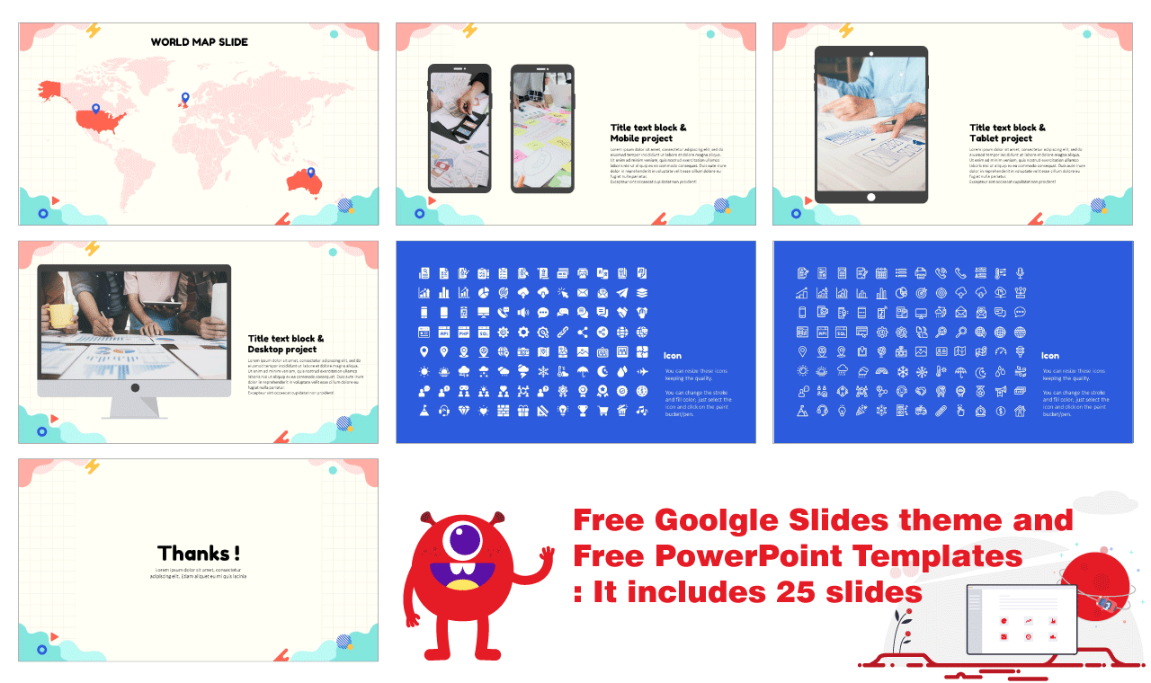 Flat Wave Shapes Presentation Background Desgin Google Slides PowerPoint Templates Free download