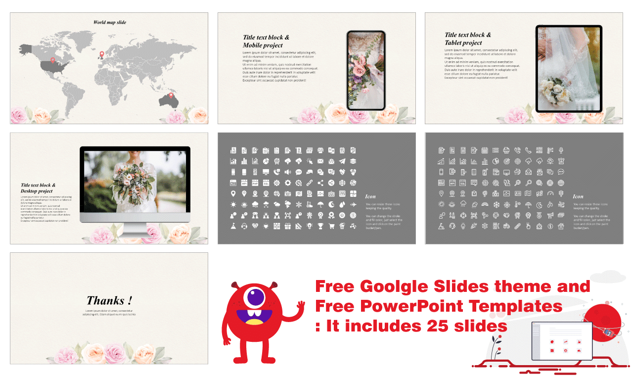 Floral engagement invitation Presentation Background Design Google Slides Theme PowerPoint Template Free download