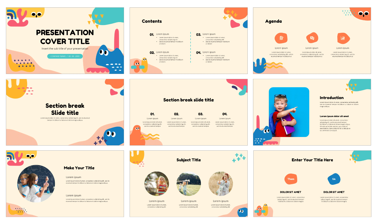 Funny Abstract Space Free Google Slides Themes PowerPoint Templates