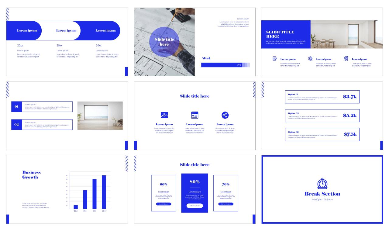 Geometric Minimal Graphic Google Slides Theme PowerPoint Template Free download