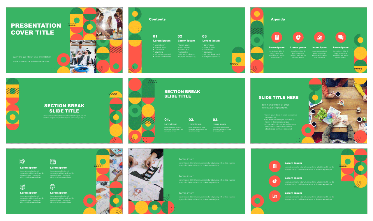 Geometric Shapes Point Free Google Slides theme PowerPoint template