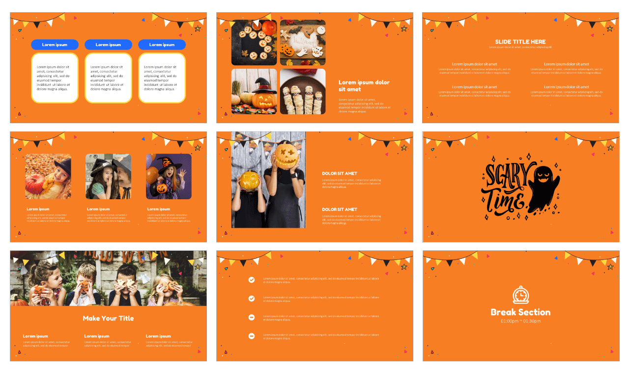 Happy Halloween Party Google Slides PowerPoint Design Templates Free download