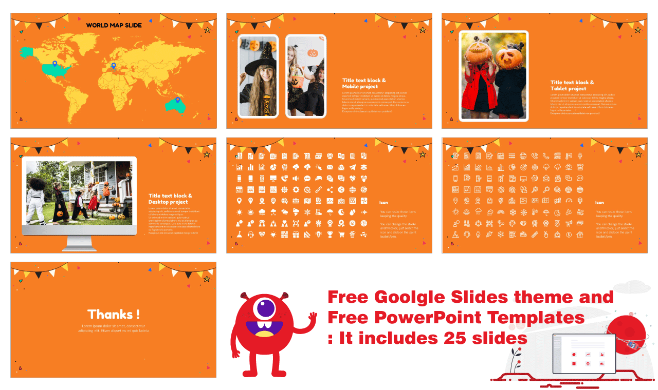 Happy Halloween Party Presentation Background Design Google Slides PowerPoint Templates Free download