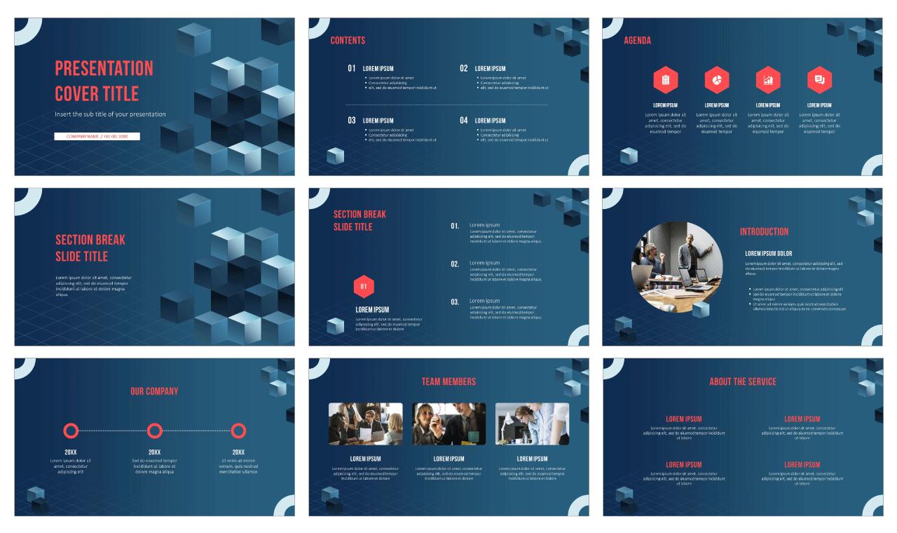 Hexahedron Design Free Google Slides Theme PowerPoint Templates