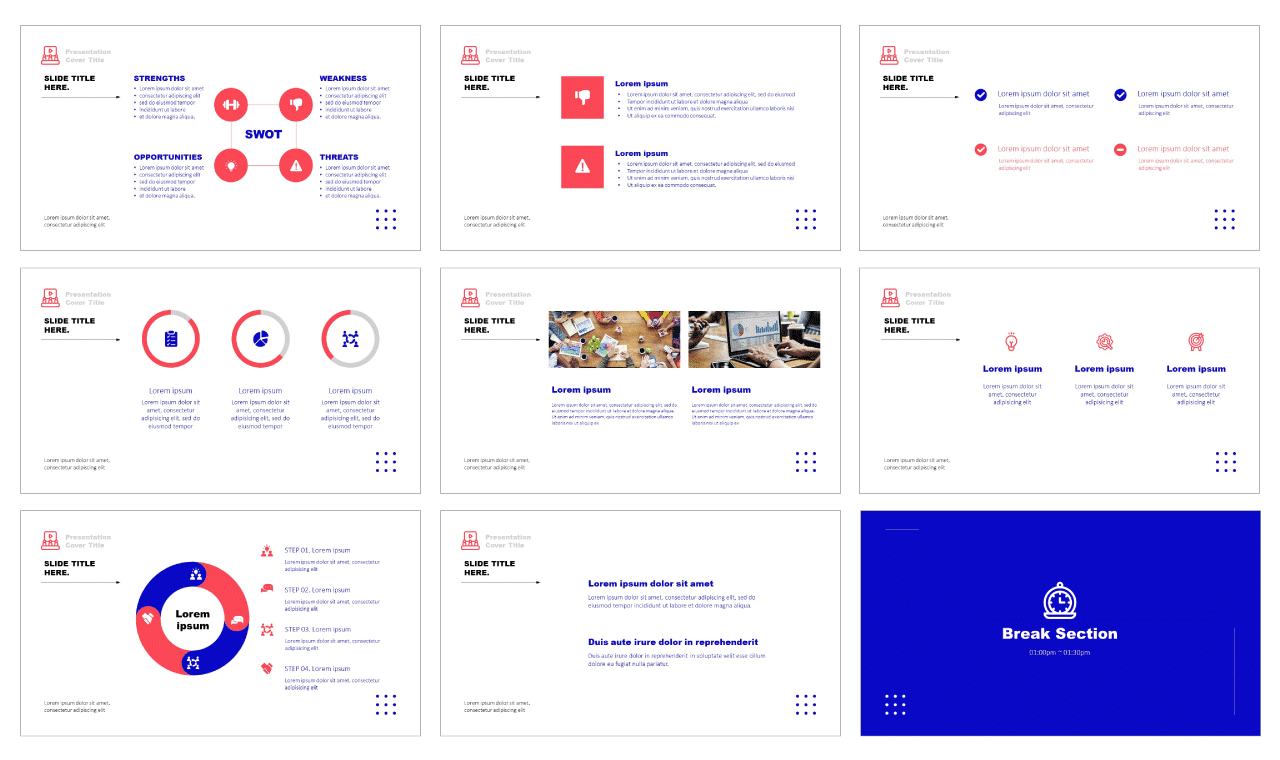 Minimal Business Report Google Slides theme PowerPoint Templates Free download