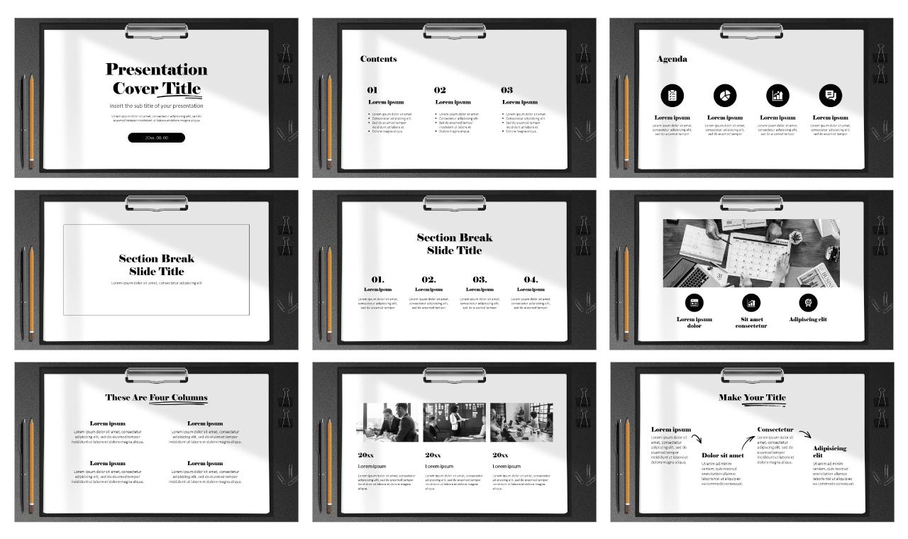 Modern Clipboard Design Free Google Slides theme PowerPoint template