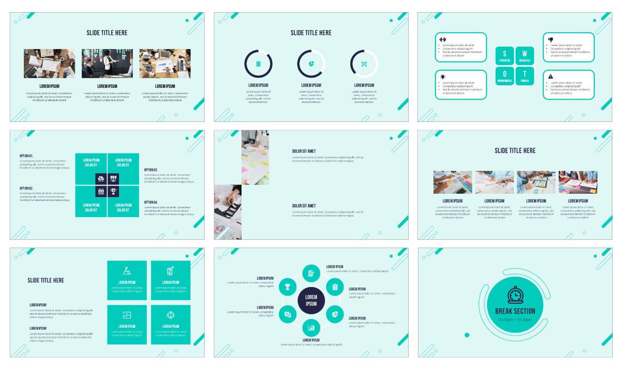 Multipurpose Circle Elements Google Slides Themes PowerPoint Templates Design Free download