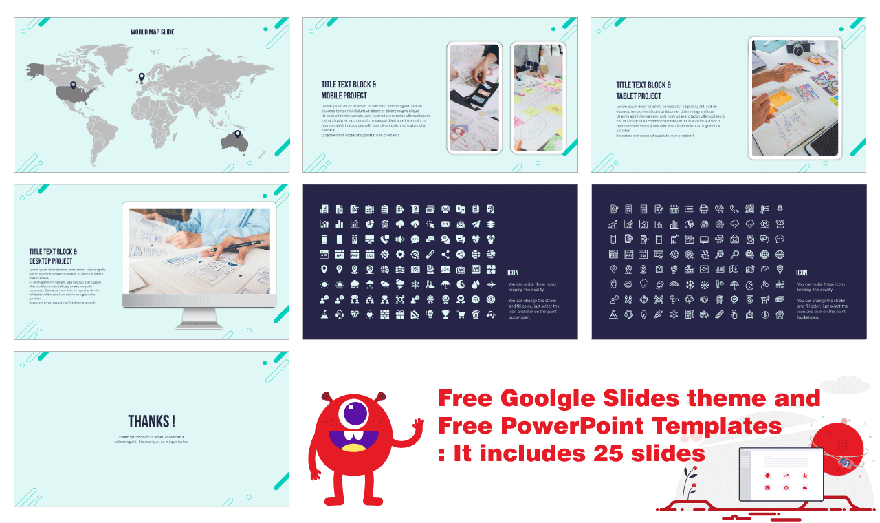 Multipurpose Circle Elements Free Google Slide Theme PowerPoint Template - We can help you with your presentation: Use this new free design.