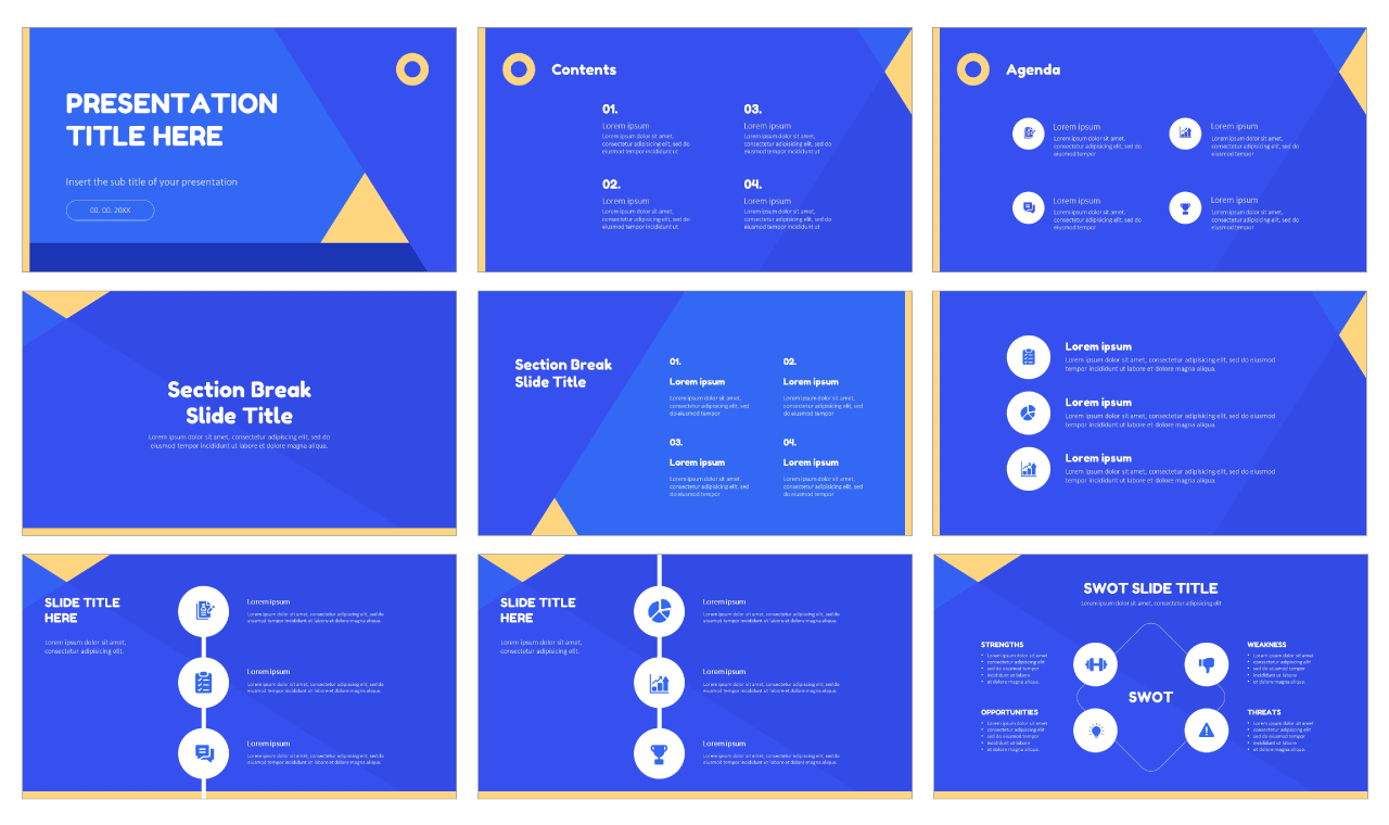 Simple Geometric Free Google Slides Themes PowerPoint Templates