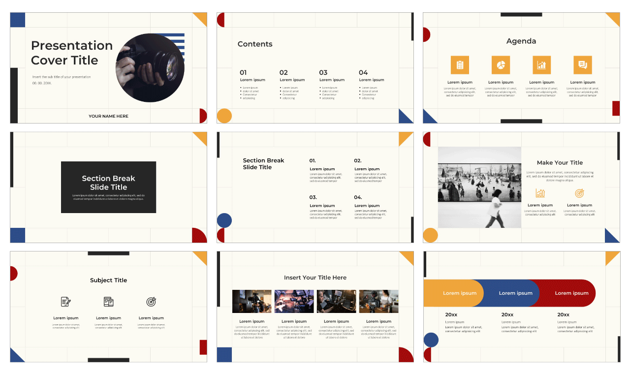 Simple Graphic Design Free Google Slides Theme PowerPoint Template