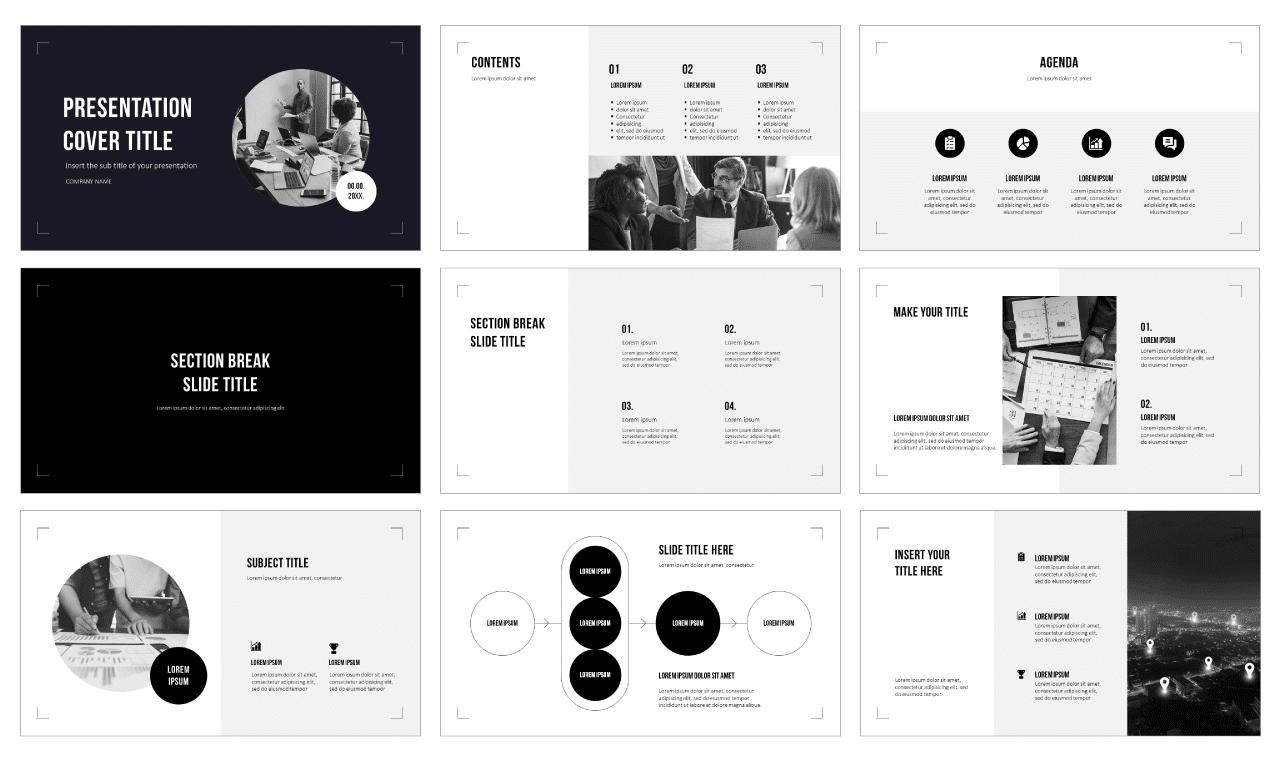 Simply Minimalist Style Free Google Slides Theme PowerPoint Template